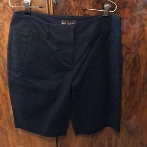 Navy cotton shorts by Dana Bachman size 14